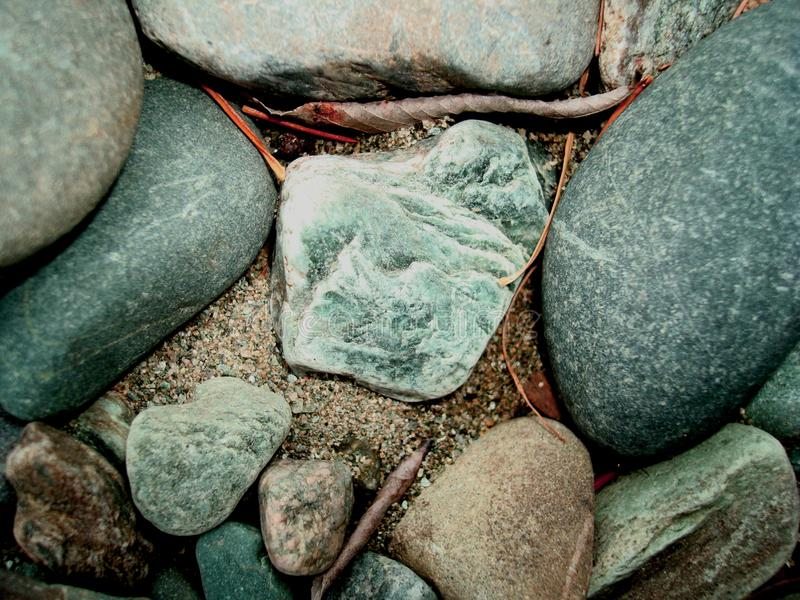 Background gray pebbles close-up royalty free stock photos
