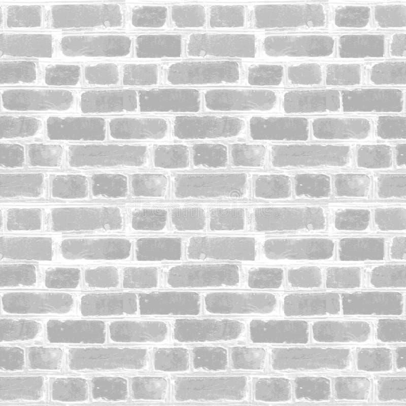 Background of gray white brick empty wall. Clear Wall stone. Seamless urban stone wall. Retro home office livingroom interior stock illustration