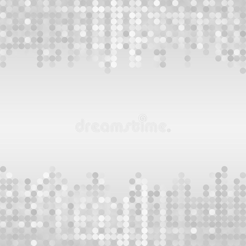 Background. Gray and white background with dots stock illustration