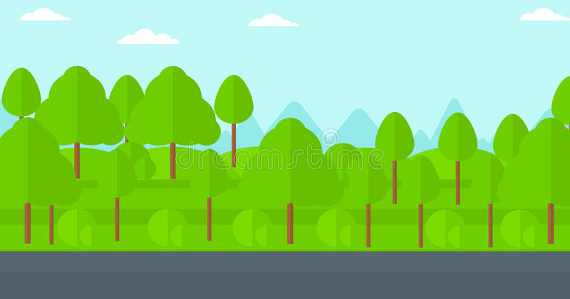 Background Of Green Forest. Stock Vector - Illustration of ...