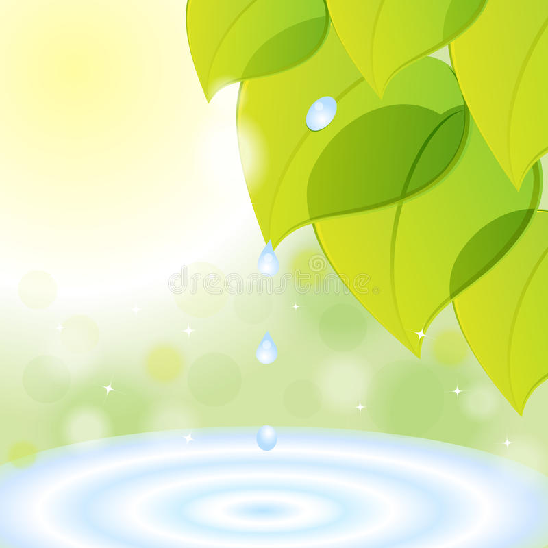 Background from green leaves royalty free illustration