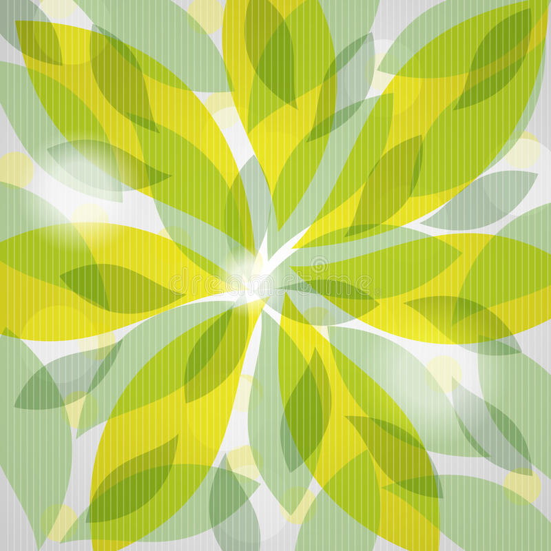 Background from green leaves stock illustration