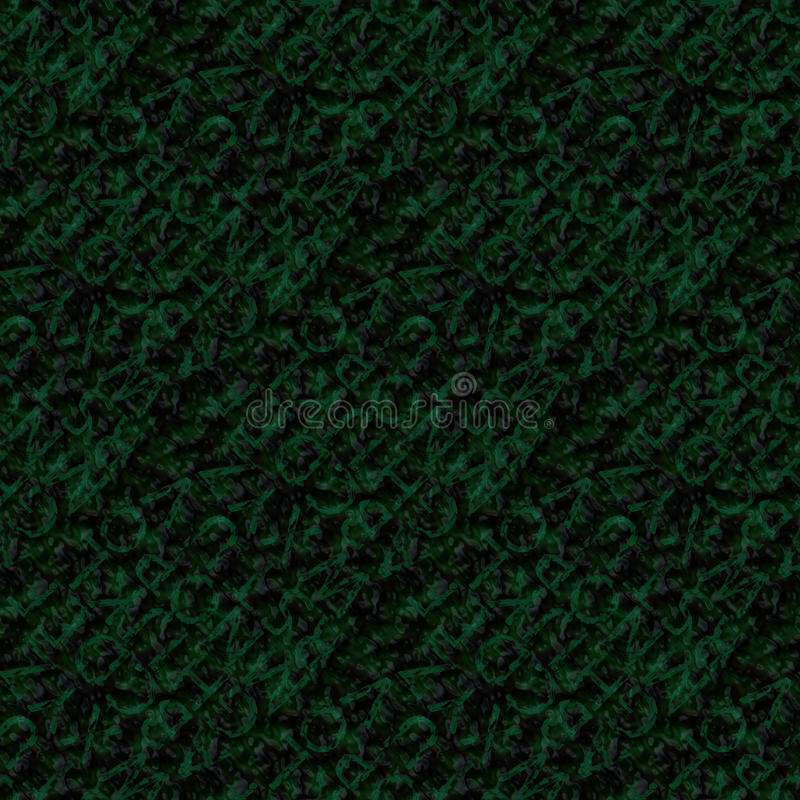 Background with green letters. Abstract endless continuing background with green letters vector illustration