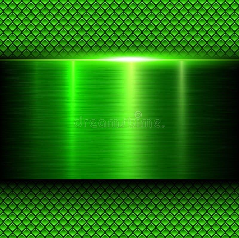 Background Green Metal Texture Stock Vector Illustration