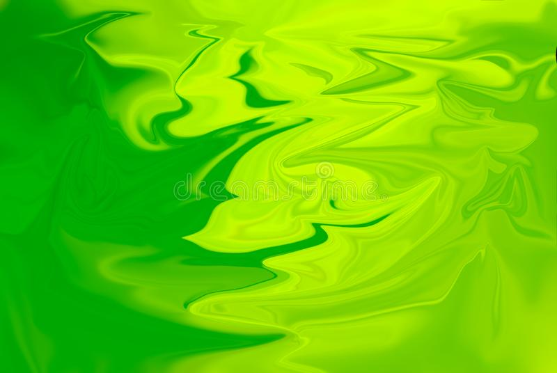 Green tone oil background. Background Green oil, circle back and forth. Water color royalty free illustration