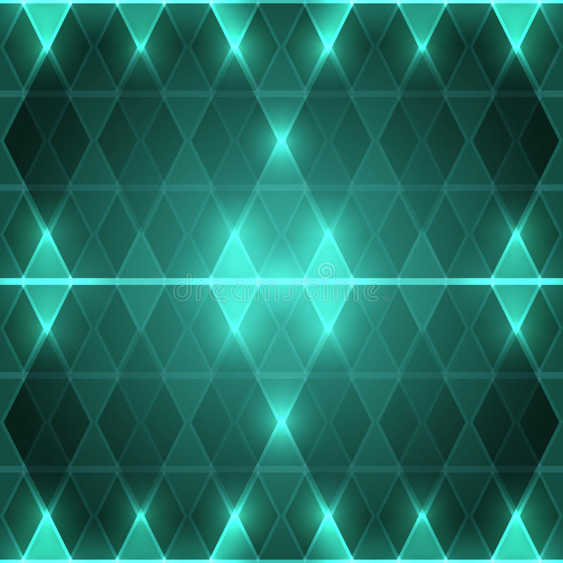 Background of green rhombuses royalty free stock image