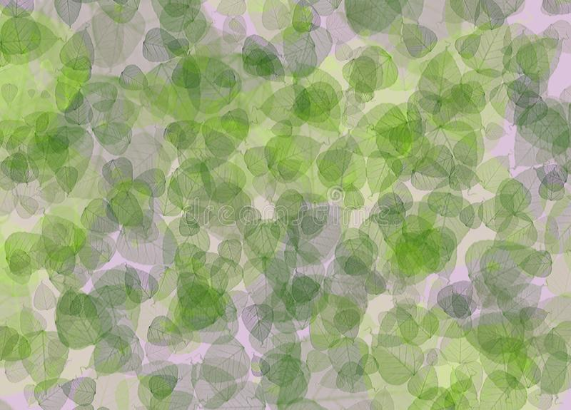 Background with green spring leaves of the trees stock illustration