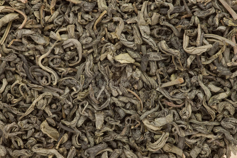 Background Of Green Tea Stock Photography