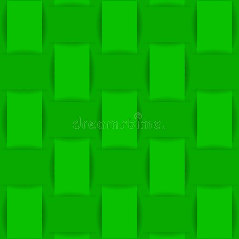 Background of green woven fabric or paper. vector illustration