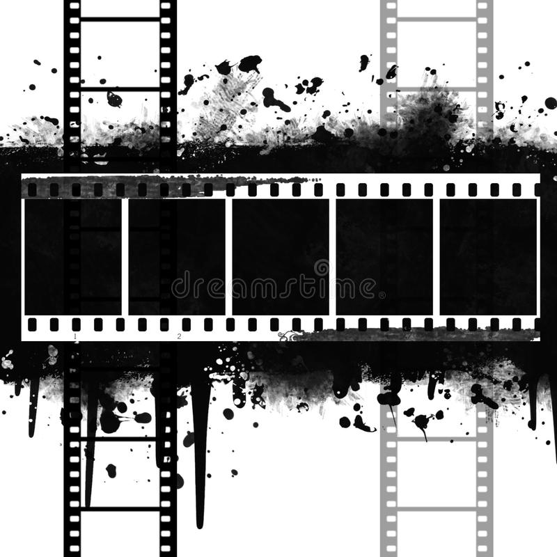 Download Background With Grunge Filmstrip Stock Illustration - Image: 14886016