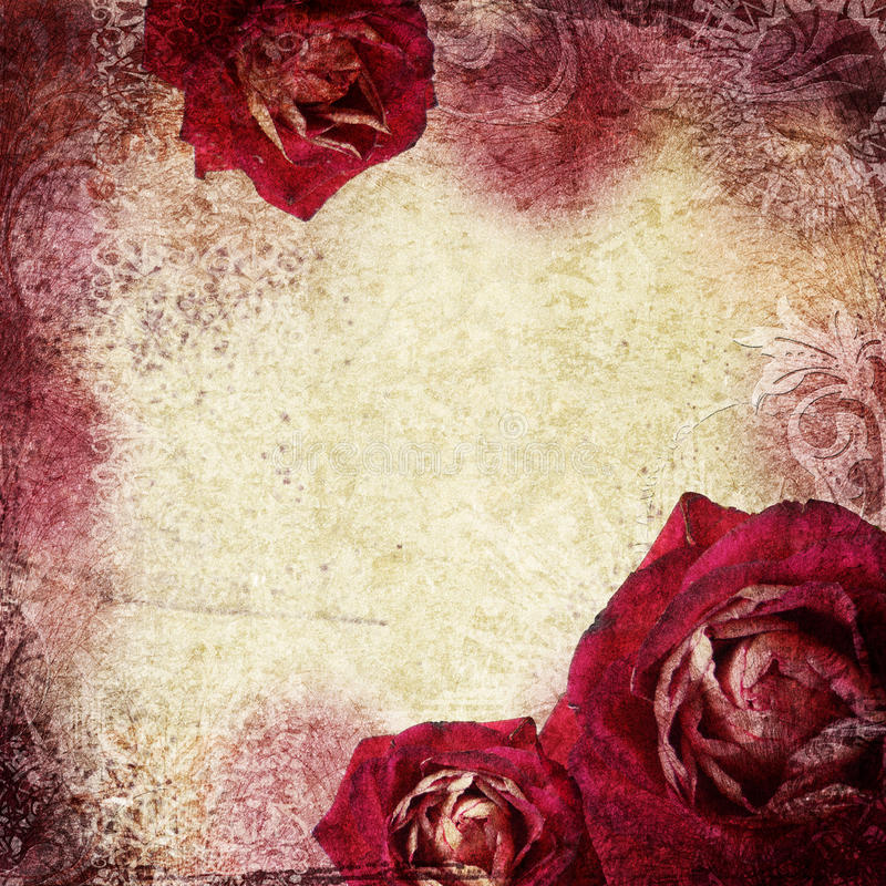 Download Background In Grunge Style With Flowers Stock Illustration - Image: 22006999