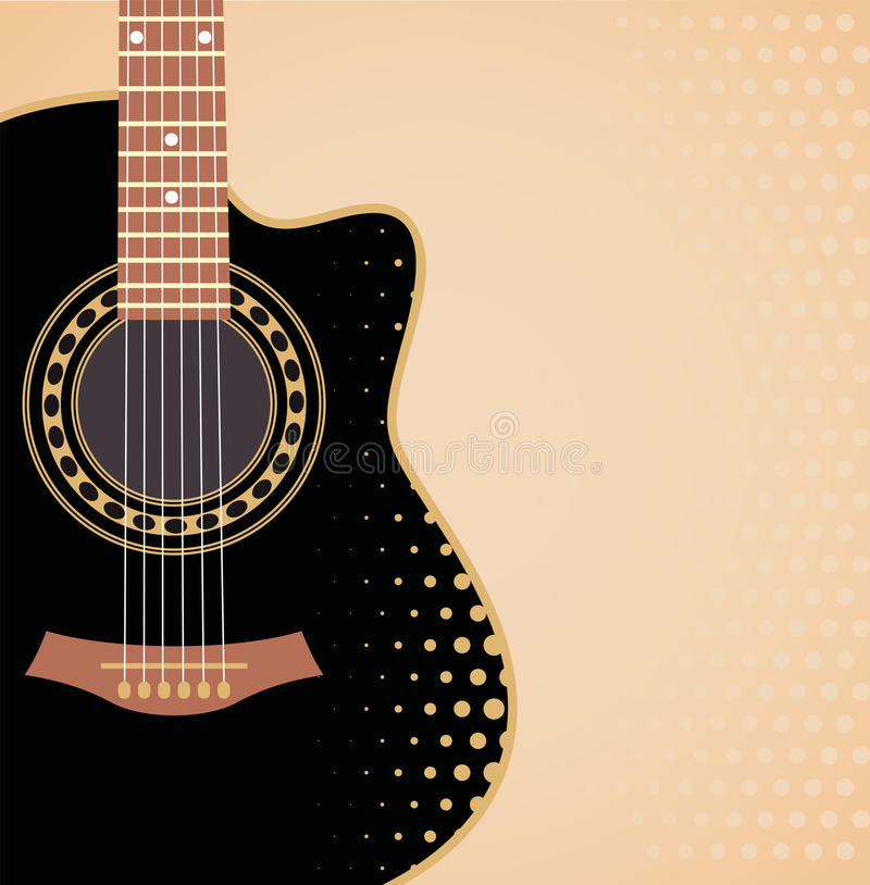 Download Background with guitar stock vector. Image of shape, jazz - 33791926
