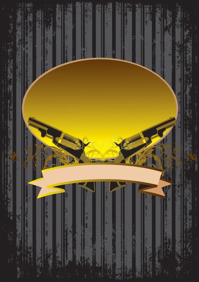 Download Background with guns stock illustration. Illustration of inscription - 8973877