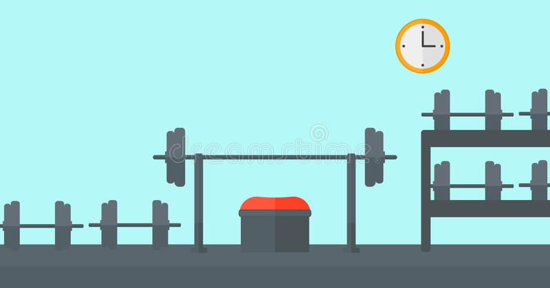 Download Background Of Gym With Equipment Stock Vector