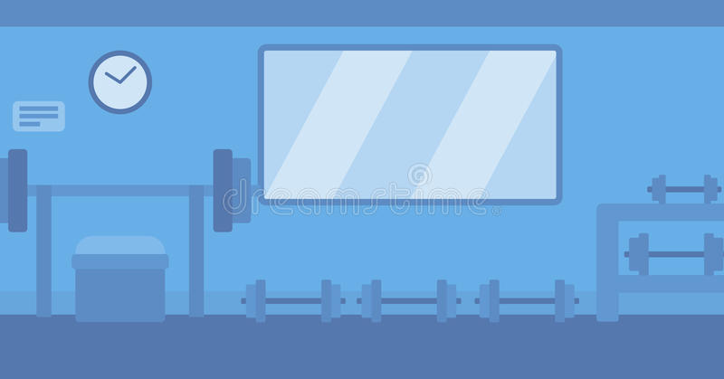 Background of gym with equipment. royalty free illustration