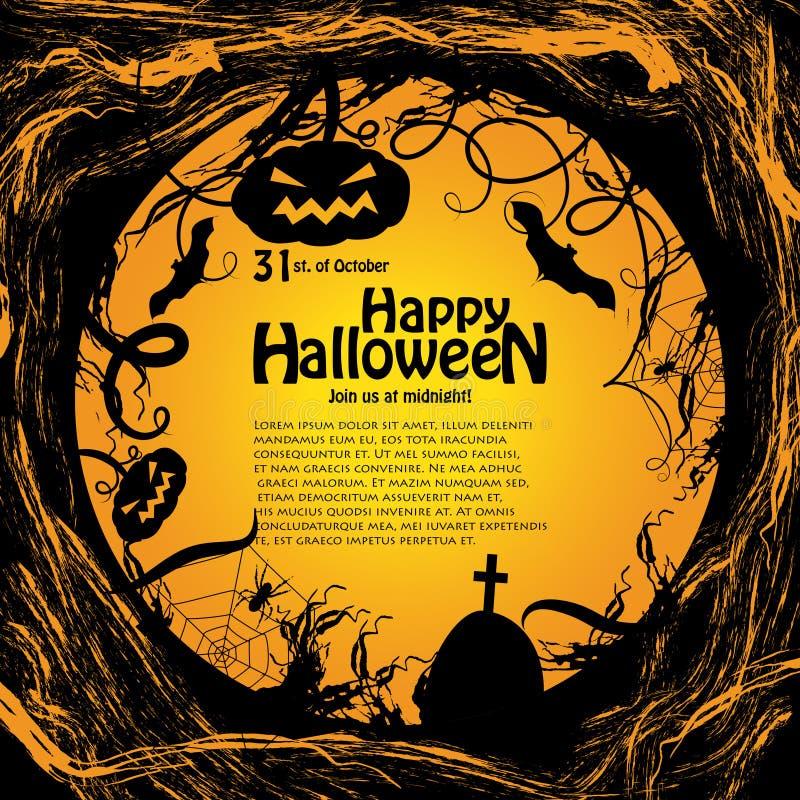 Background for Halloween vector illustration