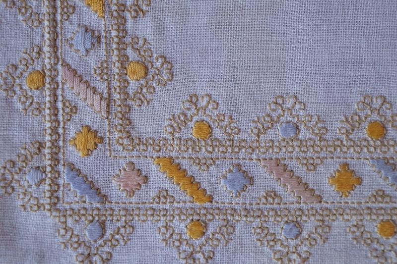 Background with hand-sewn pattern royalty free stock photo