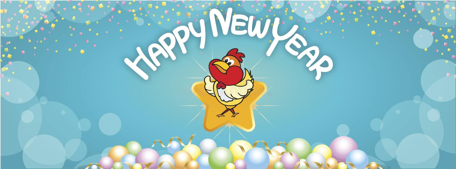 Background Happy New Year greetings stock images