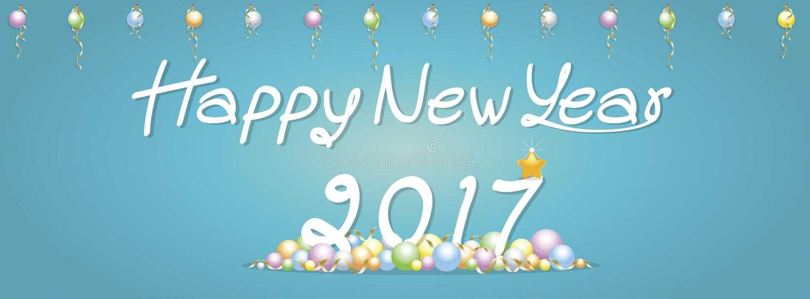 Background Happy New Year greetings royalty free stock photography
