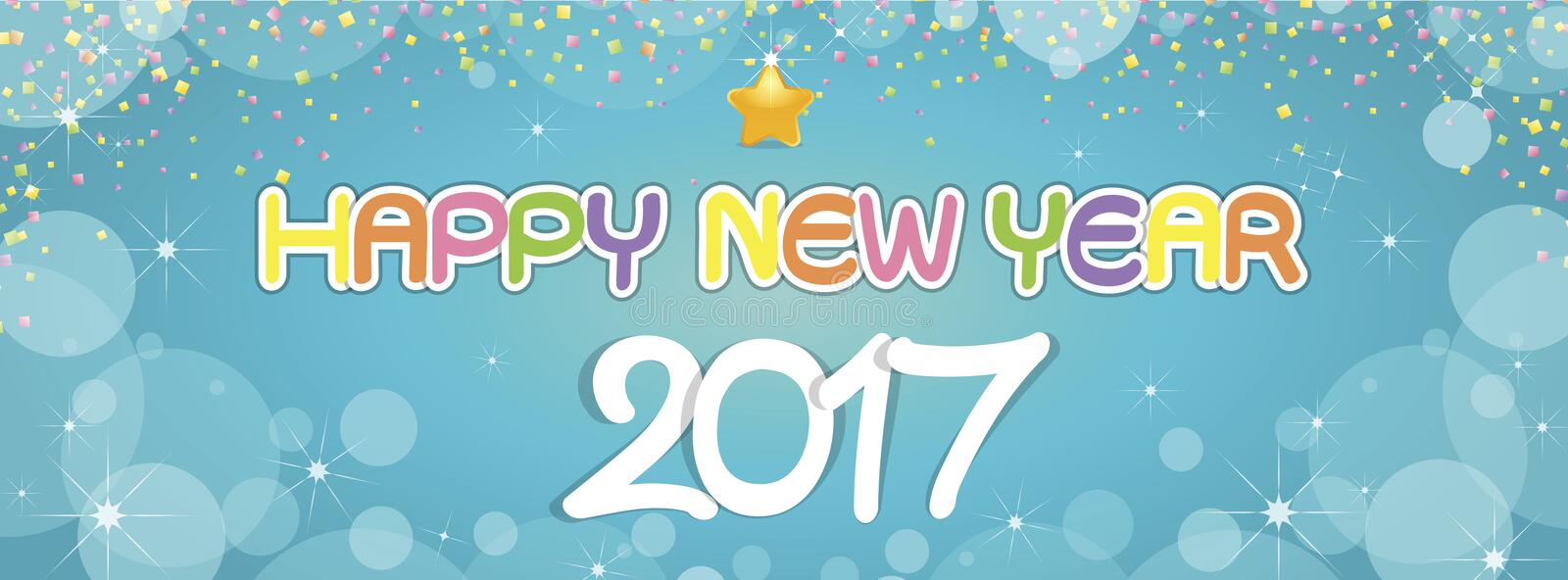 Background Happy New Year greetings stock photography