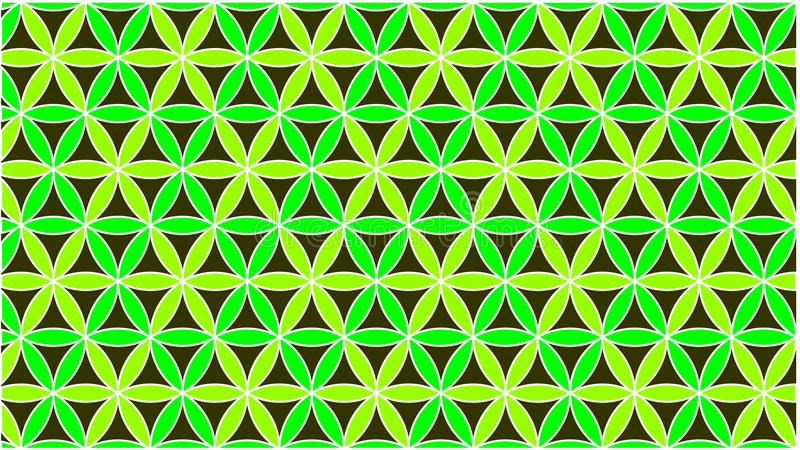 The background has colored circles in green and they are interlaced to form a beautiful shape royalty free stock photo
