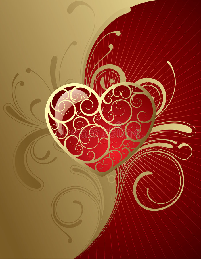 Background with a heart. Raster version of vector background with a heart (contain the Clipping Path of a heart) There is in addition a vector format (EPS 8 vector illustration