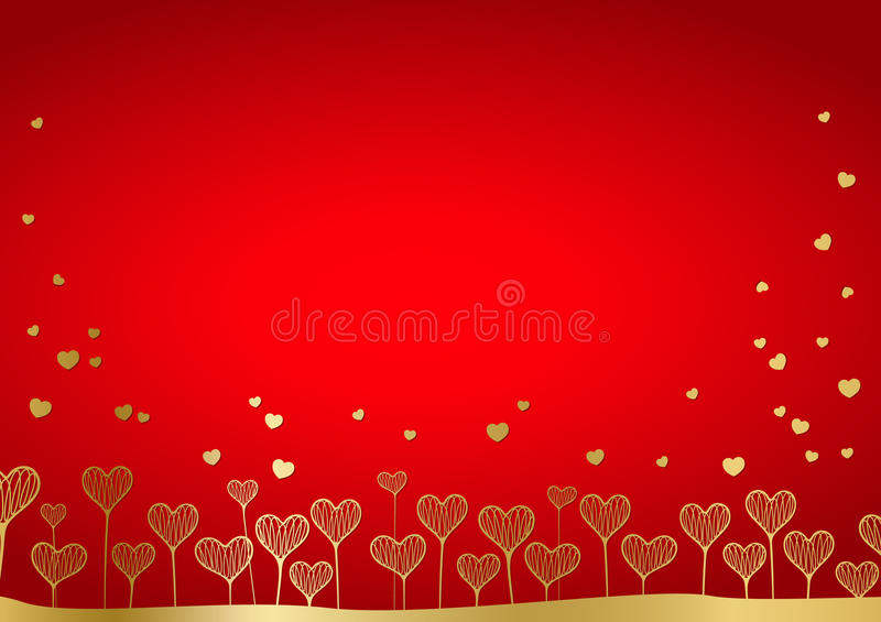 Background from hearts stock illustration