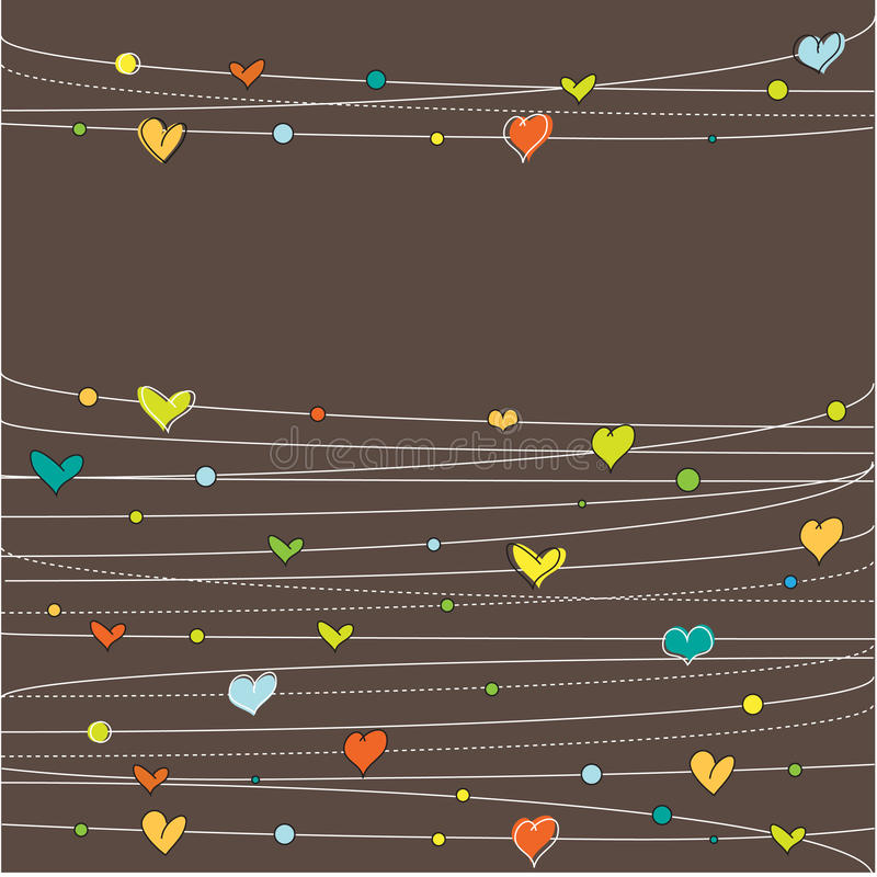 Download Background with hearts stock vector. Image of saint, black - 15394768