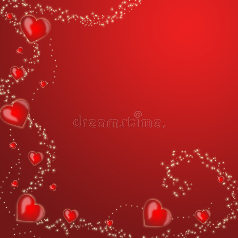 Background with hearts stock photo