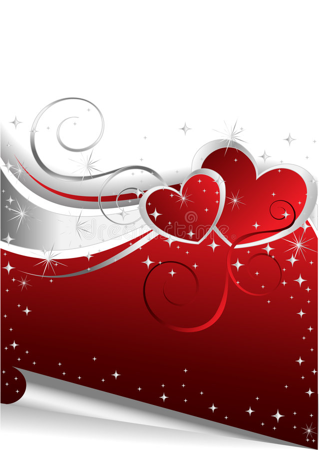 Background with Hearts vector illustration