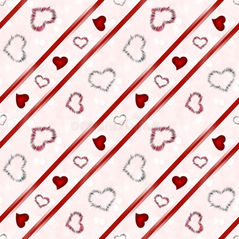Background with hearts. Beautiful illustration of an abstract background with hearts on white background royalty free stock images