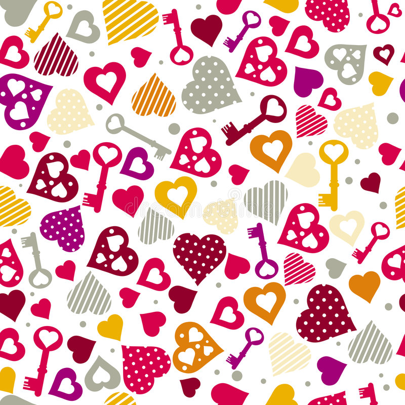 Download Background With Hearts And Keys, Vector Royalty Free Stock Photo - Image: 8227515