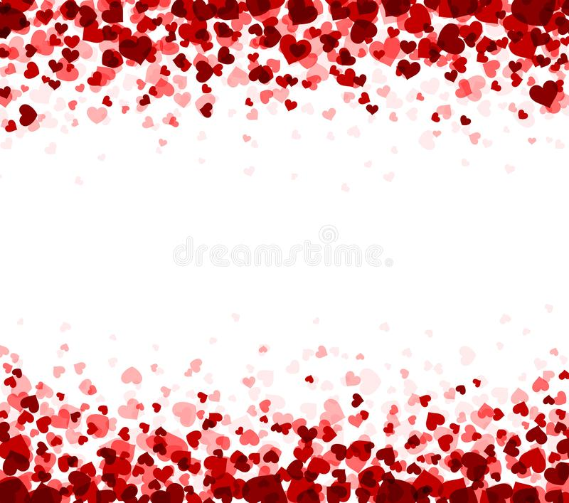 Background with hearts. Romantic white background with hearts. Vector paper illustration vector illustration