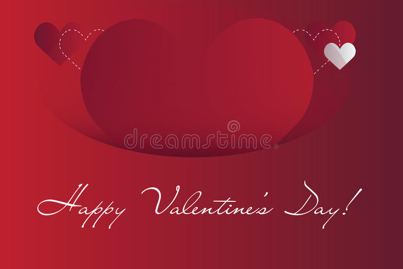 Background with hearts. Valentine`s day Abstract background with bright vector design elements royalty free illustration