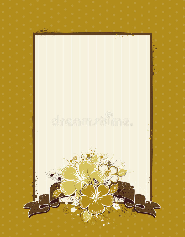 Background With Hibiscus Royalty Free Stock Images