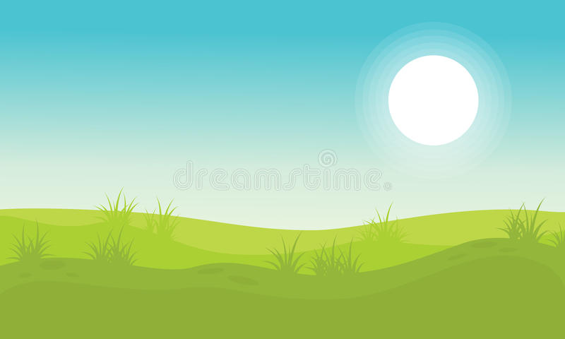 Background hill beauty landscape vector. Collection stock stock illustration