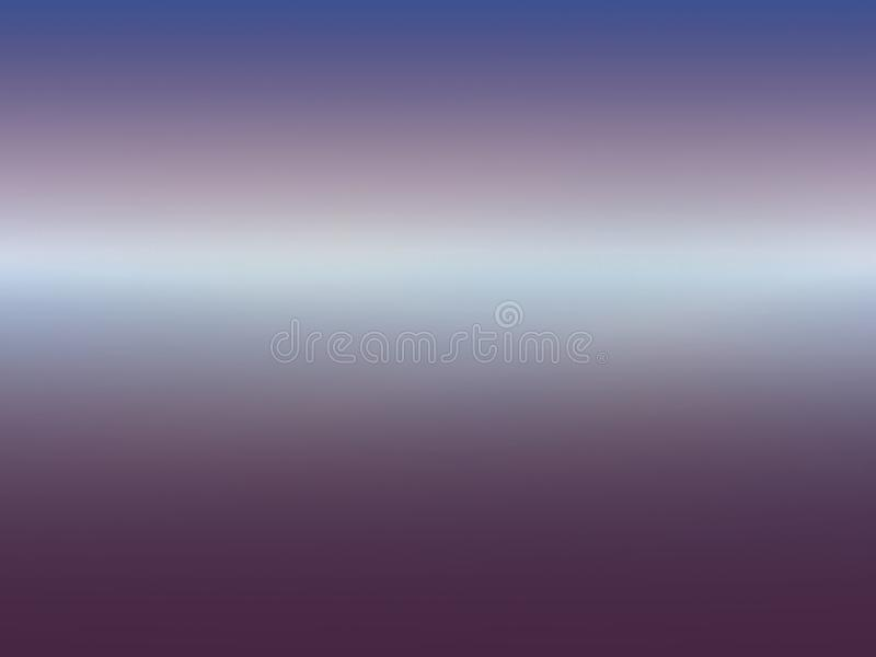 Background horizon in purples and blues. With central line of light colour stock photography