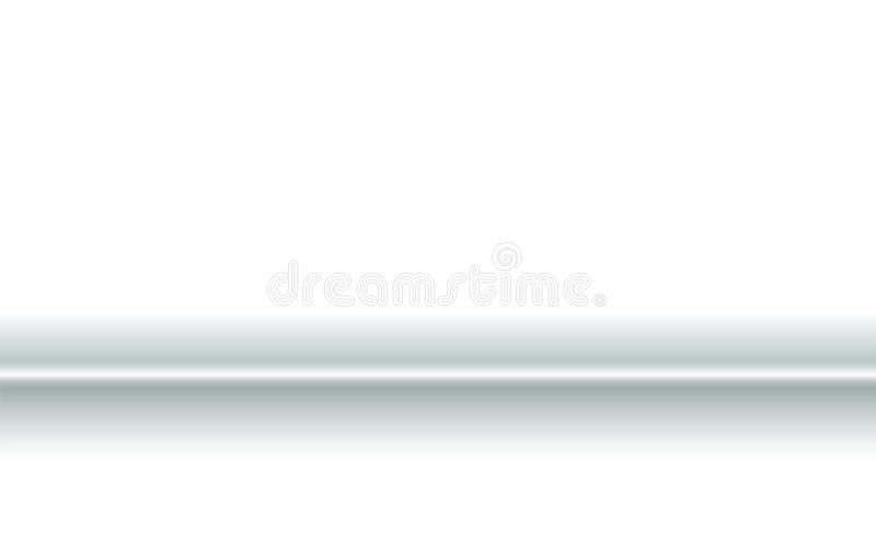 Background horizontal fold of white paper fabric. Blank trifold with soft shadows. Copy-space clear template concept for. Presentation and design decorative stock illustration