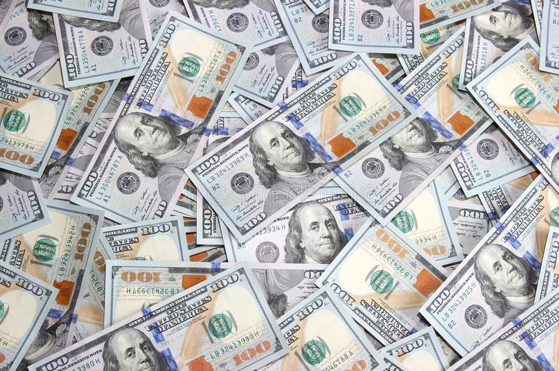 Download Background Of Hundred Dollar Bills Of The New Sample Stock Image - Image: 37857707