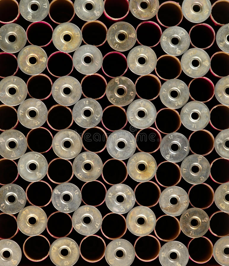 Background from hunting gun cartridges stock photos