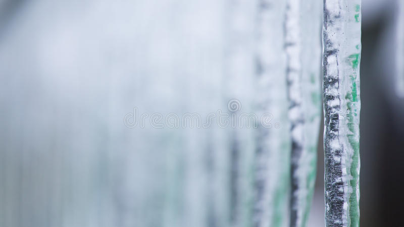 Background of icicles stock images