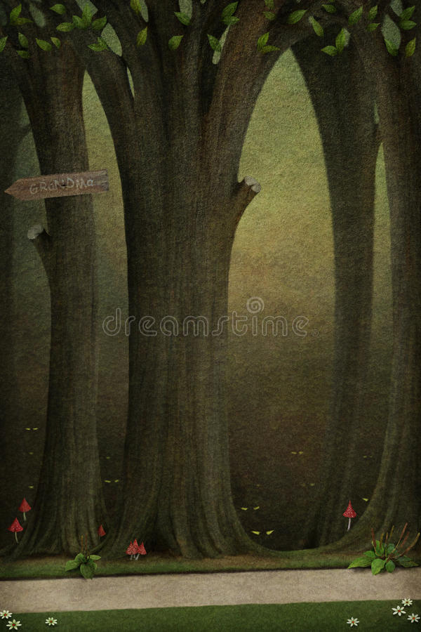 Background or illustration to a fairy story. royalty free illustration