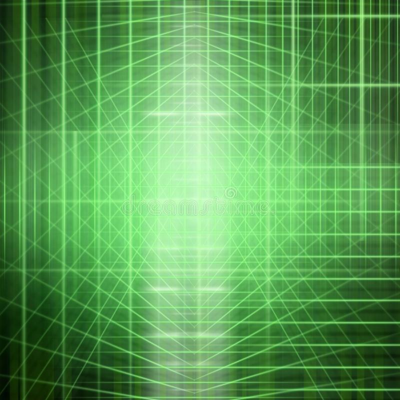 Abstract structural light. Background image of abstract structural green light manipulation vector illustration