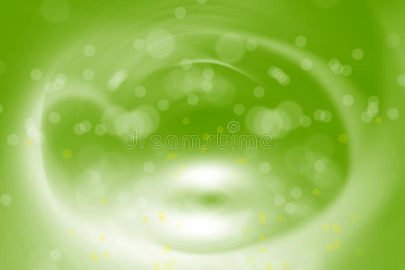 Conceptual green background image of abstract light manipulations. Background image of abstract structural light manipulation stock illustration