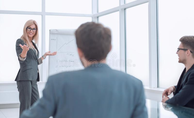 Background image of business presentation in the office. royalty free stock photography