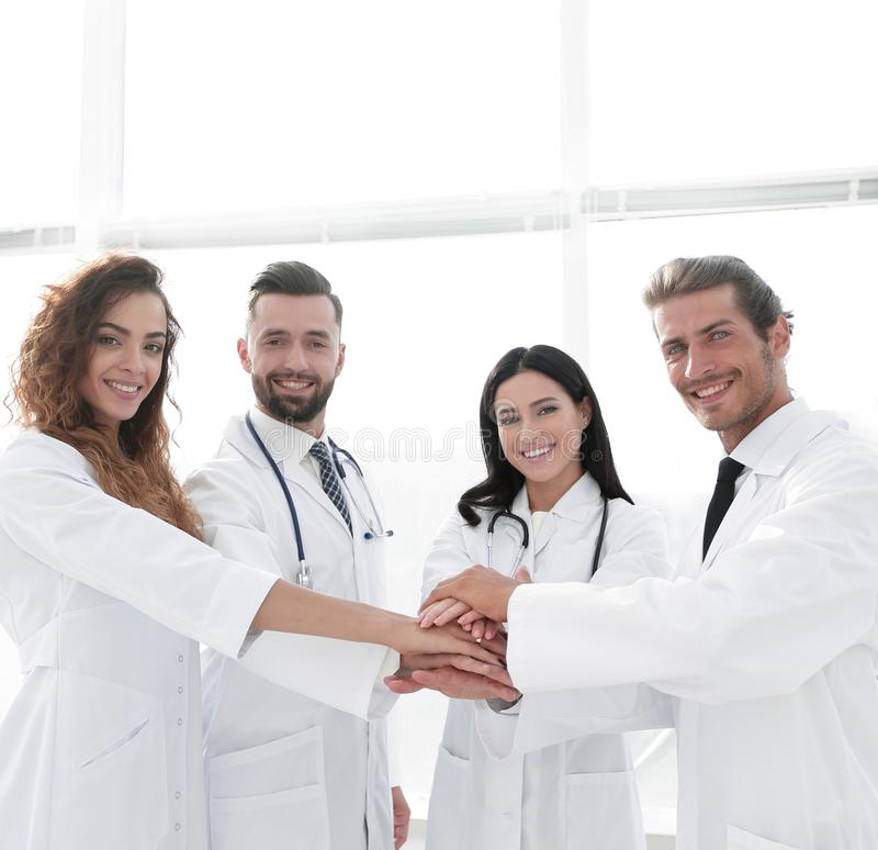 Background image of a group of doctors. The concept of teamwork royalty free stock photos