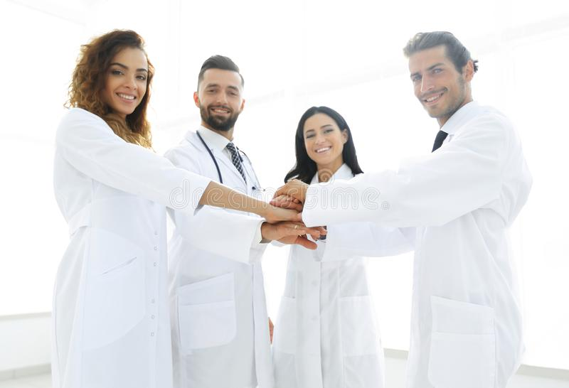Background image of a group of doctors. The concept of teamwork royalty free stock image