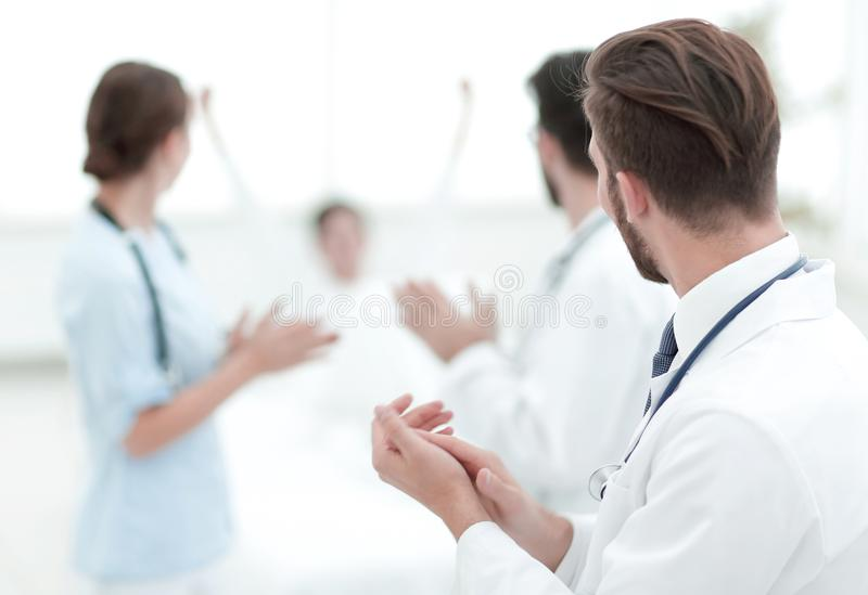 Background image of a group of doctors. Photo with copy space stock photo