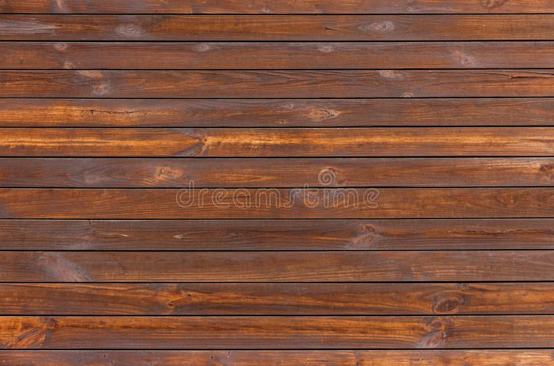 Background image of natural brown horizontal wooden boards 皇族释放例证