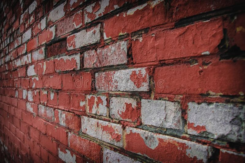 Background image with old worn brick wall stock photography